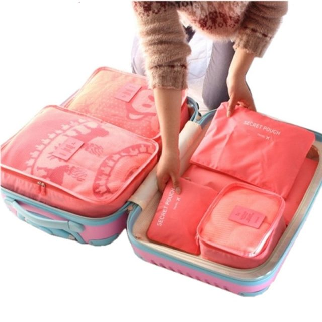 6PCS/Set High Quality Luggage free shipping in canada | online brands