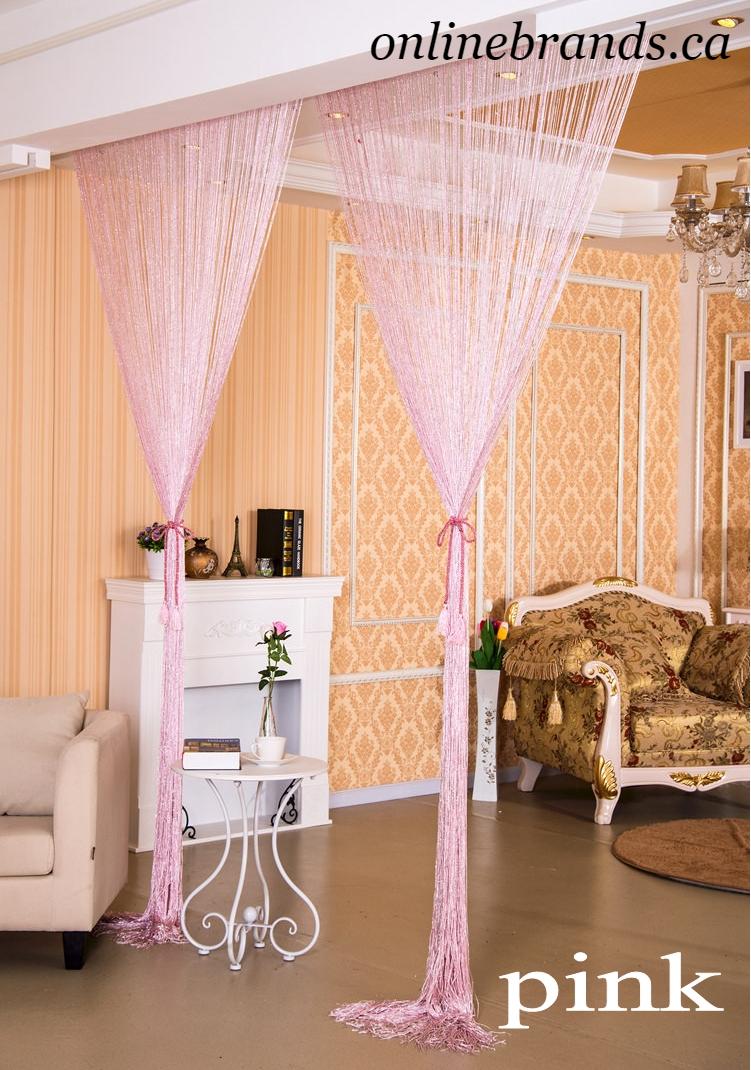 Shiny Tassel Silver Line String Curtain Room Decoration | online brands