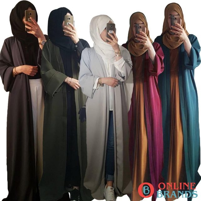 polyester solid color abaya, Free shipping in canada. Online Brands