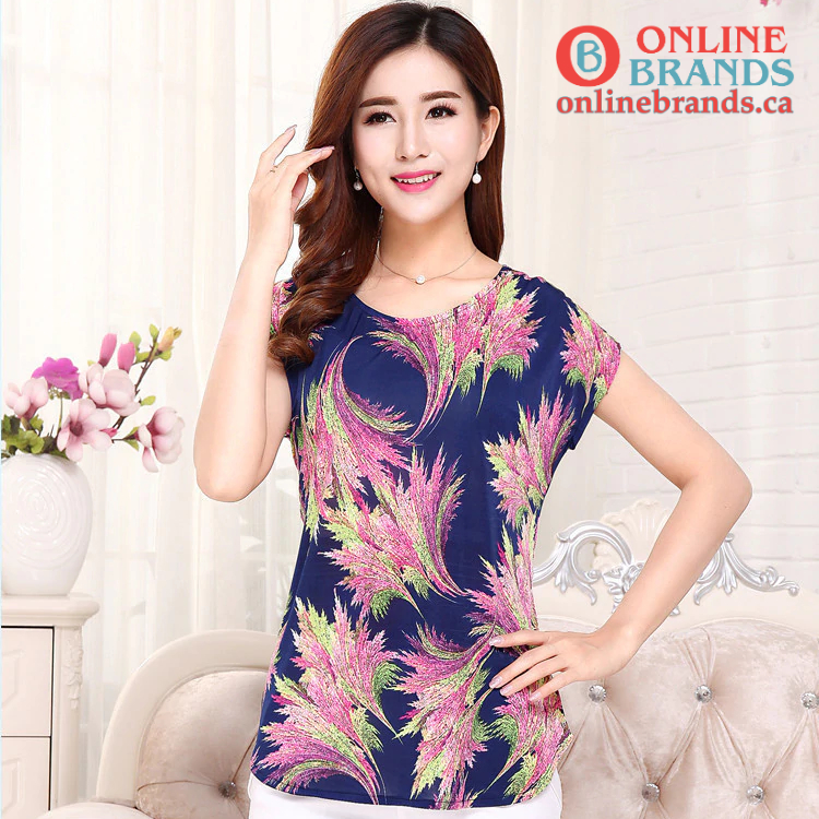 Flowers printed tees tops | Free shipping | Online brands